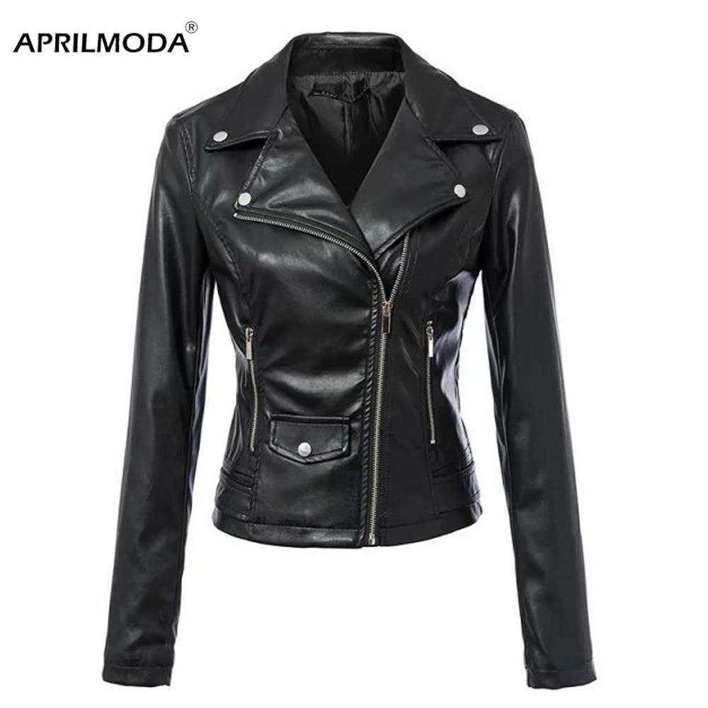 Faux   Leather   Gothic Jacket Women Moto Biker Motorcycle Jackets Black Outerwear faux   leather   PU Jacket Coats Blazer Stud Rivet
