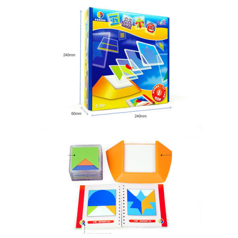 HEY FUNNY Colorful spatial thinking puzzle logic 100 questions ...