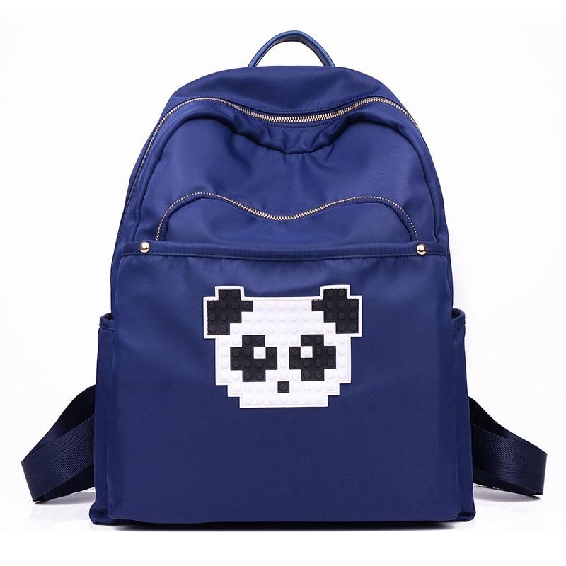 New Casual Women Backpack Female Travel Bag Bags Mochila Feminina Panda Pattern Waterproof Nylon Lady Women
