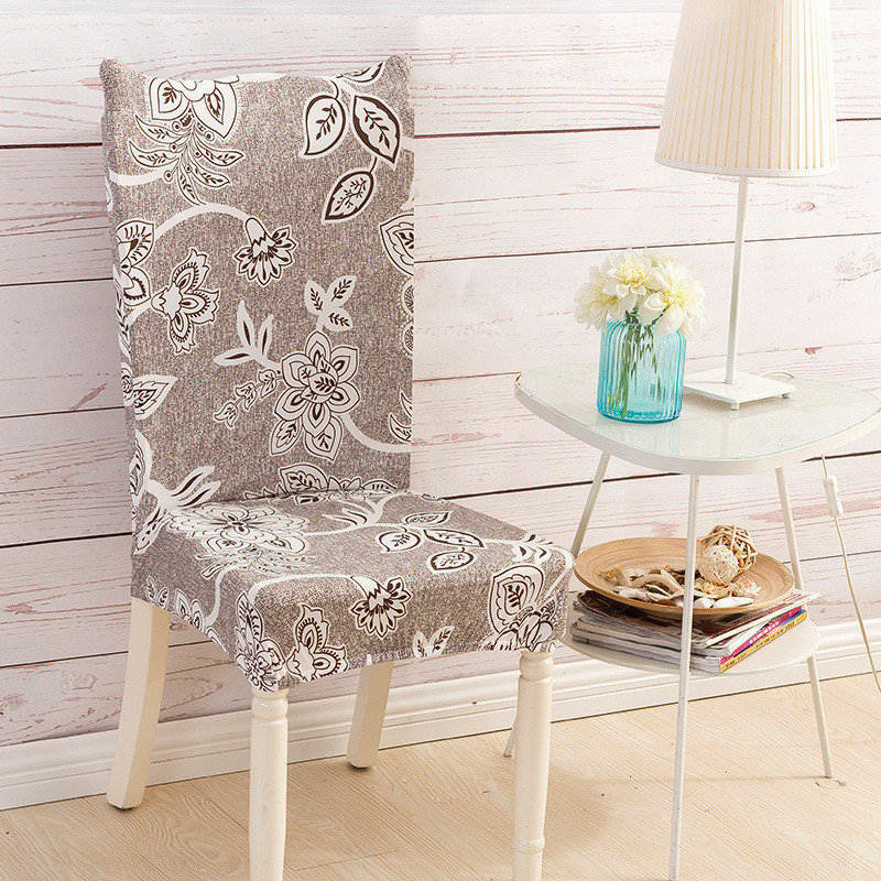 1 Pcs Elegant Spandex Chair Cover Kitchen Dining Room