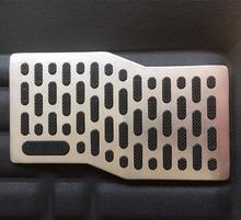 26*14 cm Universal Metal Car Anti-skid Footpad Foot Rest Pedal Floor Mats Carpet Pads Mat Patch Heel Plate For Truck Suv