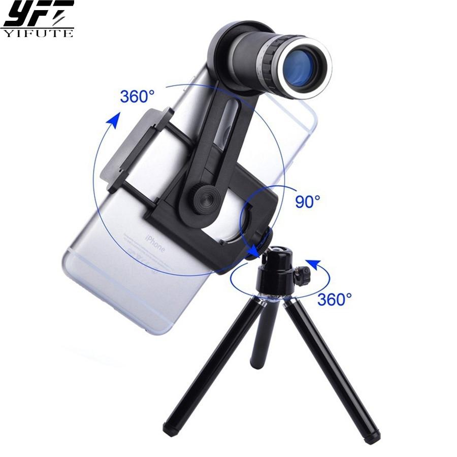 387ba5707afa YIFUTE Nouveau Mobile Téléphone Télescope support Universel 8X Zoom Caméra  Téléobjectif pour Apple iPhone Samsung Xiaomi Redmi Huawei