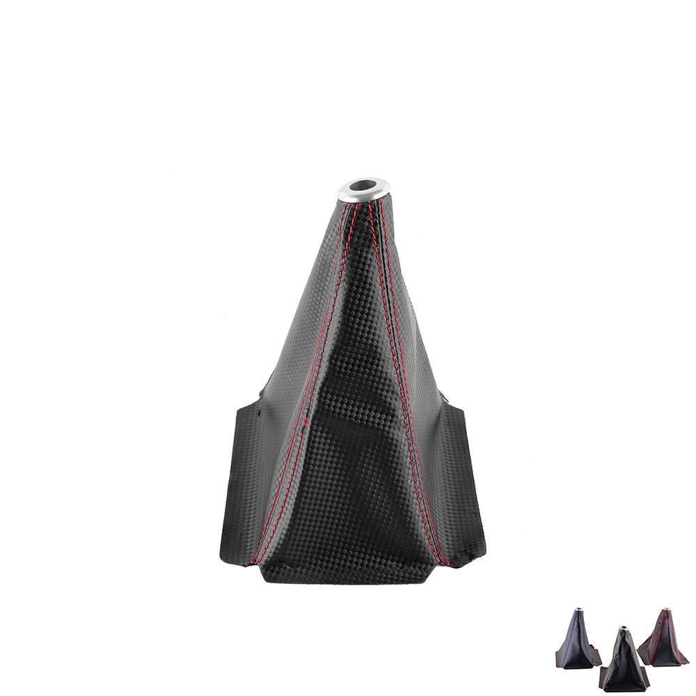 PVC Carbon Fiber Look RedGoldBlue Stitch Shift Knob Shifter Boot Cover MTAT