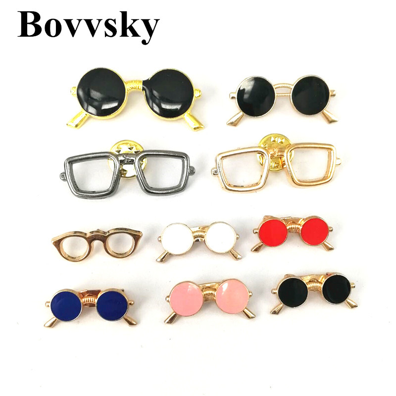 Bovvsky Trendy Brooches For Pin Broche s Shirt Suit Tie Clip Simple Business Dress Up Glasses Button Pins Jeans Bag Decoration