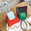 2016 nuevos bolsos de Moda de Alta calidad de cuero de LA PU de Las Mujeres Golpeó el color del tirón del mini-paquete triángulo Femenino Personalizado bolsa