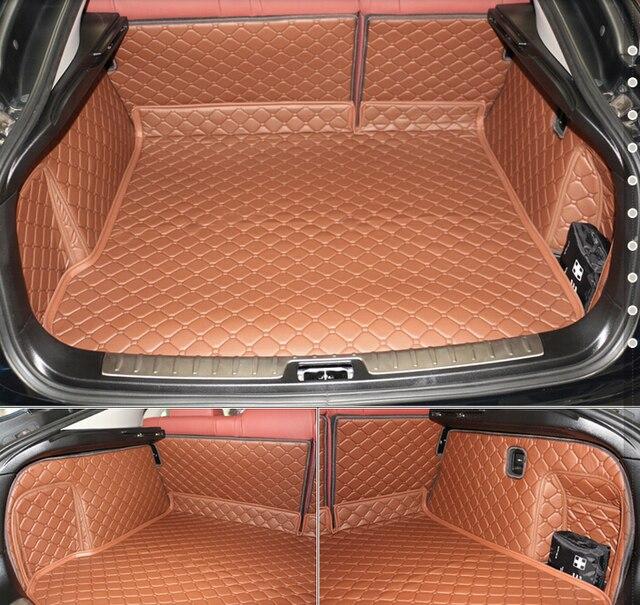 ¡Buena alfombras! Conjunto completo de maletero de coche esteras para BMW nuevo X6 F16 2017-2014 impermeable de alfombras de forro para X6 2016 envío Gratis