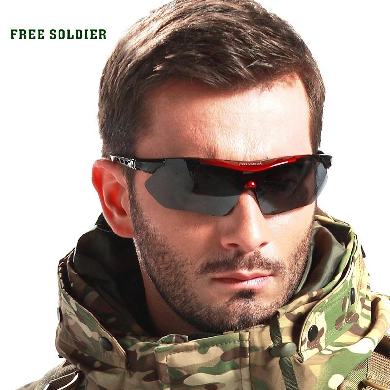 Prix pour FREE SOLDIER tactique polarisées de pêche hommes lunettes de soleil en plein air myopie Balles Camping, randonnée, cyclisme lunettes sport lunettes