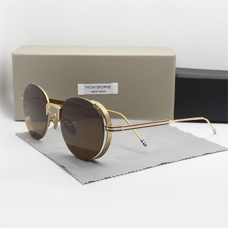 2018 New Fashion Round Sunglasses Men Women Top Quality Sun Glasses For Driving Original Zonnebril Mannen Dames