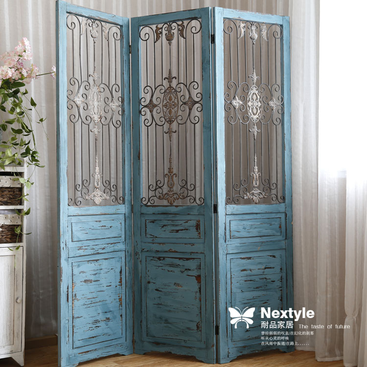 Folding Screen Room Divider Metal Wood Iron Art Home Decoration Paravent In Screens Dividers From
