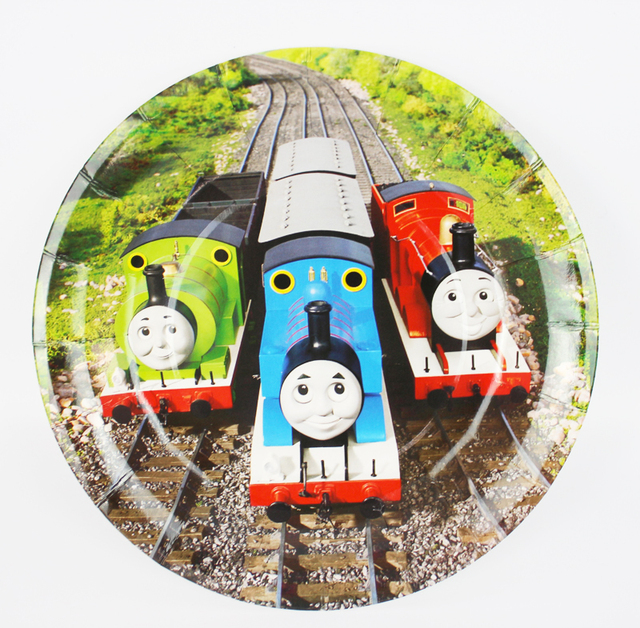 6pcs 7Inch Thomas and his friends Cartoon Pattern Theme Paper Party Plates Birthday Party Supplies for  sc 1 st  AliExpress.com & 6pcs 7Inch Thomas and his friends Cartoon Pattern Theme Paper Party ...