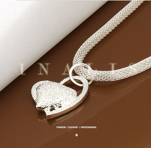 Fine Fashion Cute Silver Jewelry Silver Necklace 925 stamp Necklace Chains Pendant Top Q ...