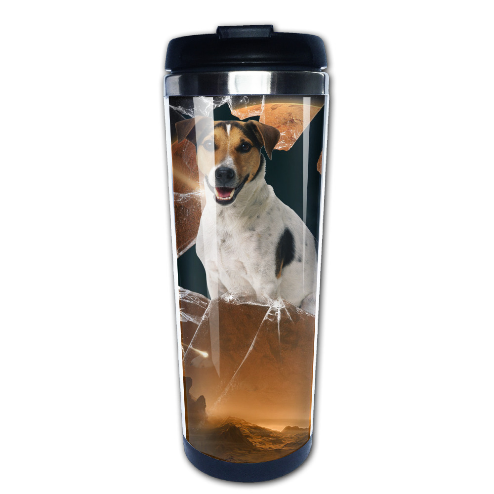 The dog in the moon coffee mug gift children tazas stainless steel tumbler caneca tea Cups