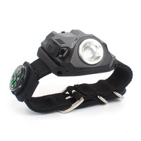 Outdoor camping LED wrist light flashlight night fishing night running bicycle riding light multi function watch light