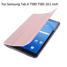 Original Para Samsung Galaxy Tab Un a6 10.1 2016 T585 T580 SM-T580 T580N Cubierta Elegante Del Caso de LA PU Funda de Cuero Tablet + Film + Pluma