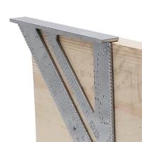 Herramienta de medición triángulo escuadra aleación de aluminio velocidad transportador Miter para carpintero tri cuadrado línea trazador Sierra guía|Medidores| |  -