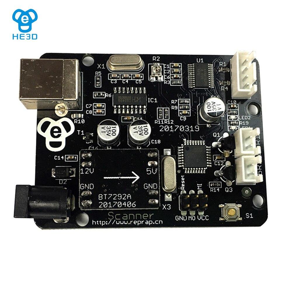 HE3D 3D scanner motherboard integriert von UNO und ZUM board für