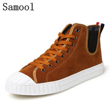 Men's Vulcanize Shoes Winter Keep Warm With Fur Shoes Warm Men Shoes Tenis Masculino Male Men's Casual Shoes Suede Leather Botas