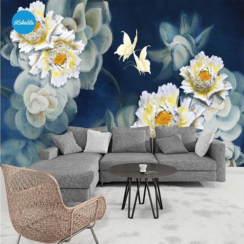 XCHELDA Custom 3D Wallpaper Design White Wild Chrysanthemum Photo Kitchen Bedroom Living Room Wall Murals Papel De Parede mukund shiragur d p kumar and venkat rao chrysanthemum genetic divergence