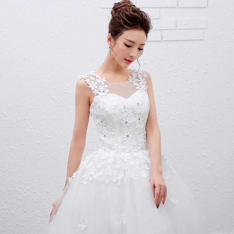2016 Summer Cheap Princess Lace Up Wedding Dress Beautiful Bride ...