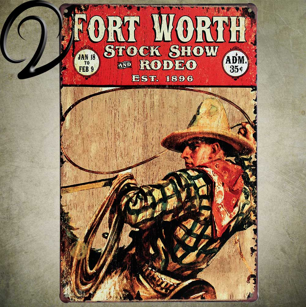 Fort Worth Stock Show And Rodeo Est 1896 Vintage Home Decor 2030