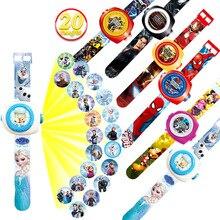 Детские часы с изображением принцессы Человека-паука, цифровые детские часы для мальчиков и девочек, светодиодный дисплей, часы Relogio