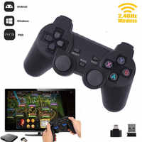Cewaal caliente 2,4G Wireless Gamepad PC para PS3 TV Box Joystick 2,4G Joypad controlador de juego remoto para Xiaomi android avión