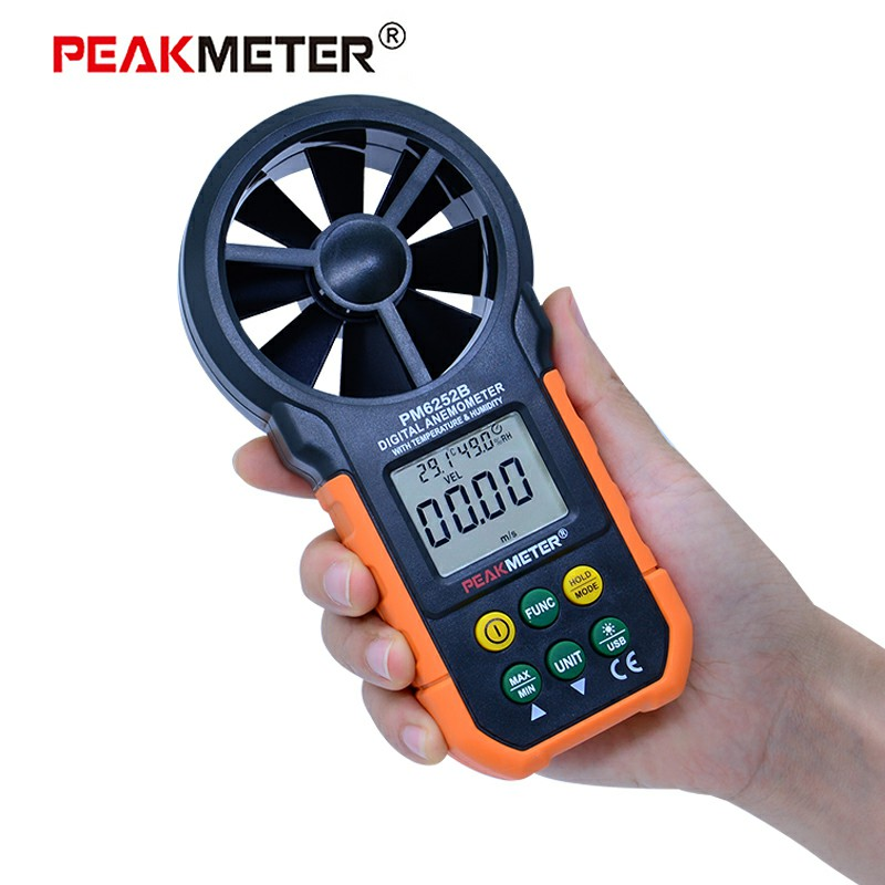 MS6252B Digital Anemometer Wind Speed Air Volume Measurement USB Data uploading Air Humidity RH USB port ms6252b digital anemometer wind speed air volume measurement usb data uploading air humidity flow meter
