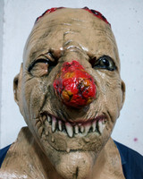Halloween Carnival Mask Horror Scary Skeleton Head Mask Full Head Bloody Mouth Cosplay Costume Mask For