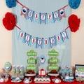 1 Unidades Nuevo Diseño Sesame Street tema Fiesta de CUMPLEAÑOS FELIZ Cumpleaños Bunting Garland Banners Photo Booth Atrezzo Envío Gratis