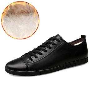 Image 4 - Мужские кожаные лоферы, черные повседневные туфли из натуральной кожи, размеры 38 46, для осени