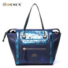 Dusun Крокодил текстуры Для женщин Сумки на плечо мода градиент Цвет сумки Для женщин Винтаж Сумки девушка сумка дамы Спортивные сумки