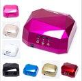 2017 Más Nuevo 36 W CCFL LED UV de uñas de gel para lámpara secado secador de uñas Esmalte de Uñas de GEL Curado de Luz 220-240 V Diamante Rosa