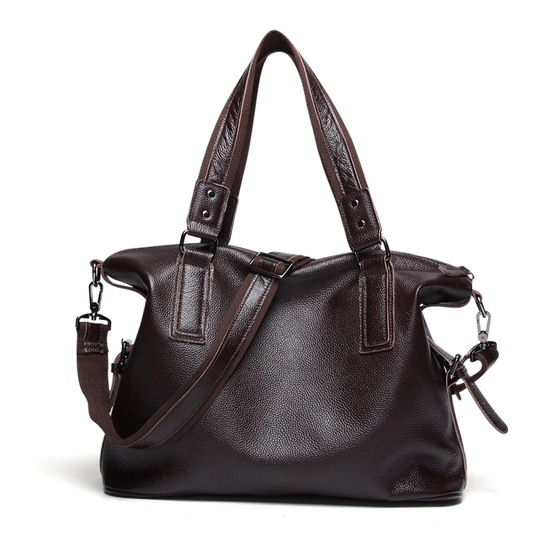 40x32CM New Fashion Trend Genuine Leather Casual Men' S Shoulder bag A4220