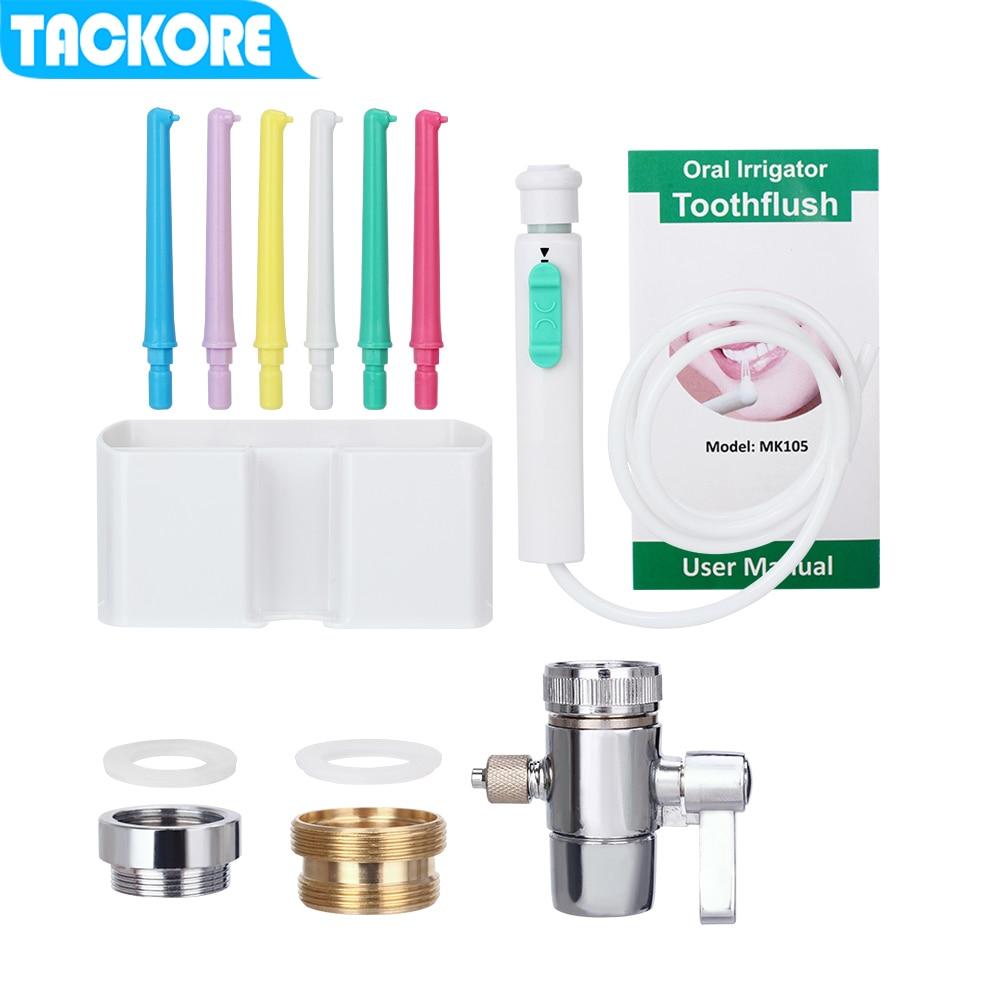 Tackore Flexible Oral Irrigator Faucet Water Dental Flosser SPA  Jet Floss Tooth