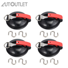 AUTOUTLET 4 PCS suction cup attachment with ring & 2 S-hooks 10 Kg load capacity folding sucker camping sweet lovers keys storage hooks with memo pad set suction cups 1kg max load