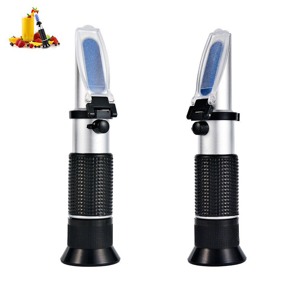 2017 New Hand Held Brix Refractometer For Sugar Beer Brix Test Optical 0 32 Brix ATC
