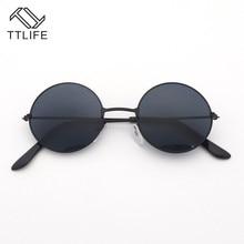 TTLIFE 2019 Fashion Show Style Glasses Real Polarized Sunglasses Vintage Sunglass Round Uv400 Blue Lens YJHH0187