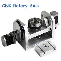CNC oś obrotowa osi wrzeciona z K01-100-Jaw trzpienie dla Mini CNC obrabiarka do drewna części diy