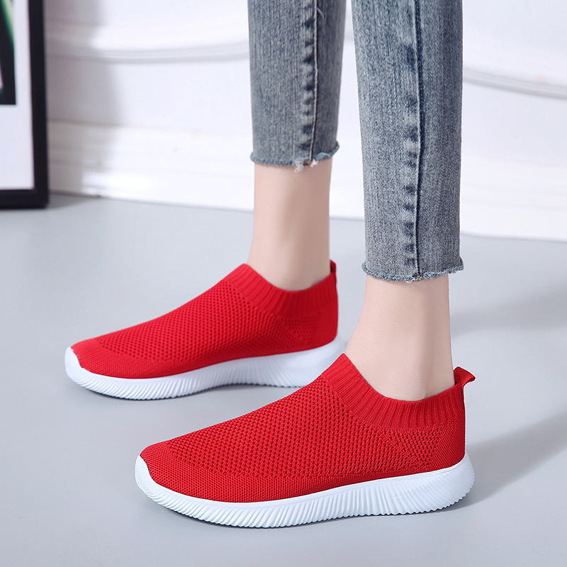 Respirant Black Mères 35 En pink Nouveau red Mode Femmes Flyknit Printemps Taille Casual Forme 2019 white 43 Grande Tissé Chaussures Volant Remise Appartements HPnqZpwfx
