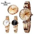 Joyería de moda Señoras Del Reloj de Oro Impermeable Bracecelet Mujeres Whatch Relojes de Diamantes Mujer Marcas de Lujo Chica Reloj Con Caja