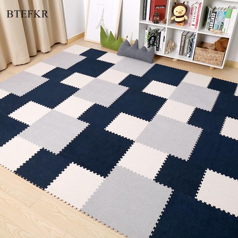 45x45 cm Bébé tapis de jeu de Puzzle tapis pour enfants Tapis pour Salon Tapete Infantil Brinquedo Dans La Pépinière Tapis Alfombra infantil