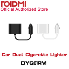 Original font b Xiaomi b font ROIDMI Car Dual Cigarette Lighter Splitter 1 to 2 Charging