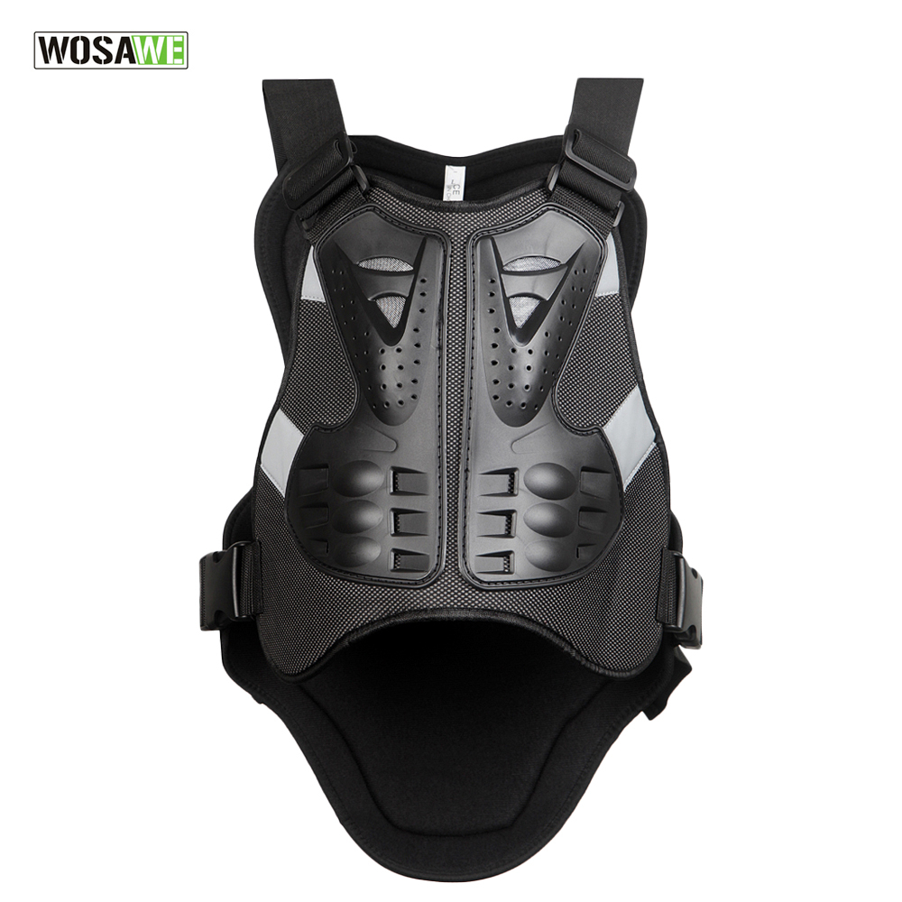 цена на WOSAWE Motorcycle Body Armor Vest Motocross Chest Protector Gear Racing Protective Body-Guard Armor PE Guards Back Support