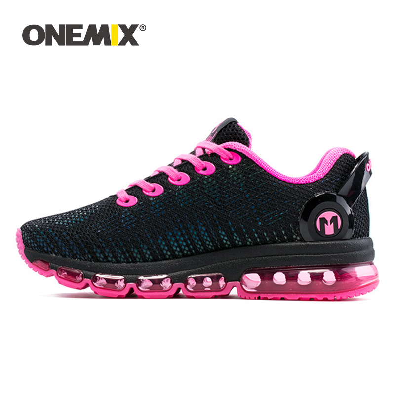 Onemix women running shoes women sneaker lightweight reflective mesh vamp sneaker for women outdoor sports jogging