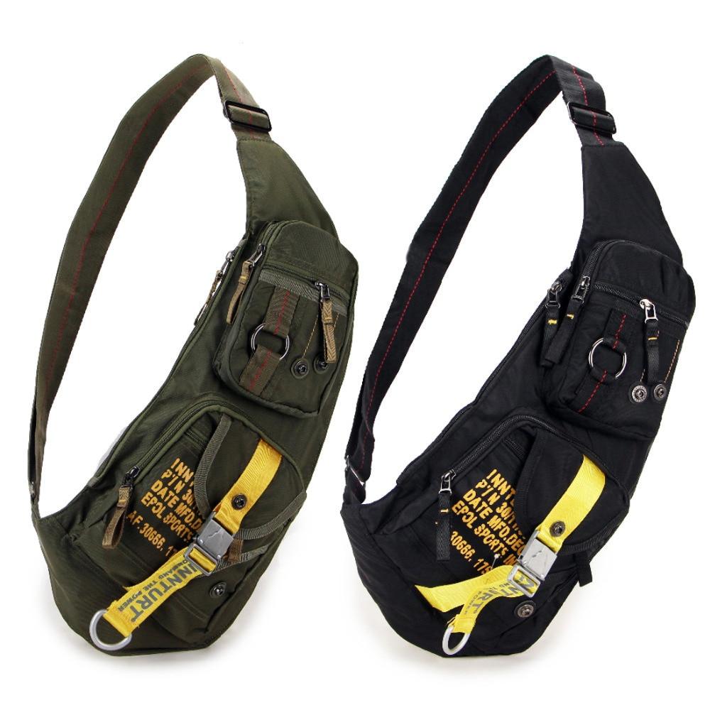 New Waterproof Nylon Chest Bag Travel Military Cross Body Messenger One Shoulder Back Day Pack High Quality Men Sling Rucksack