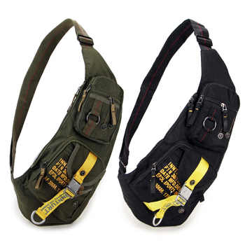 New Waterproof Nylon Chest Bag Travel Military Cross Body Messenger One Shoulder Back Day Pack High Quality Men Sling Rucksack - DISCOUNT ITEM  35% OFF All Category