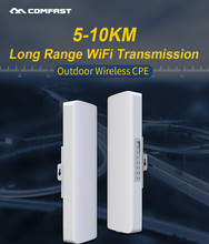 COMFAST Long Range 5-10KM Outdoor Wireless AP Router Wi-fi Bridge 300Mbps 5.8Ghz WIFI CPE 2*14dBi WI-FI Antenna Nanostation цена в Москве и Питере