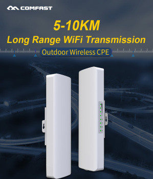 InStock!2pc 5KM 5.8GHz Outdoor CPE Wireless WiFi Repeater 300Mbps Extender Router AP 2*14dbi Antenna Access Point Signal Booster