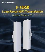 W magazynie! COMFAST daleki zasięg 5KM zewnętrzny Router bezprzewodowy AP Wi fi most 300 mb/s 5Ghz WIFI CPE 2 * 14dBi WI FI antena nanostacja