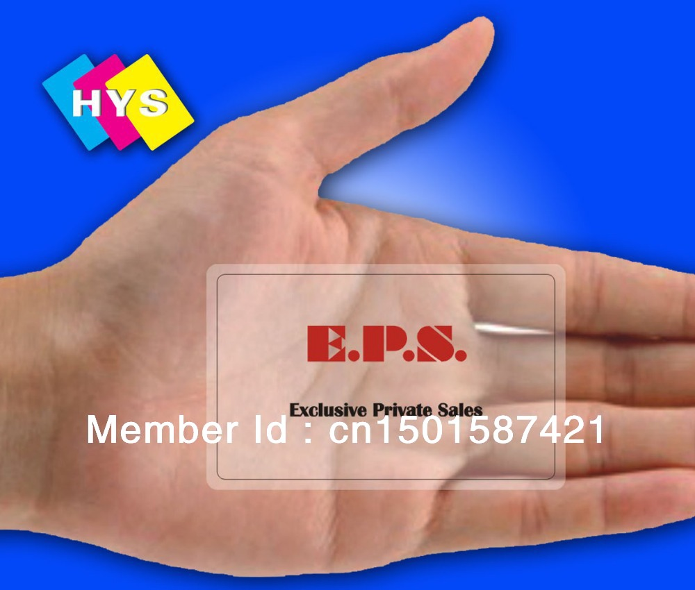 ᐂTransparent plastic business card and rfid smart card - a745